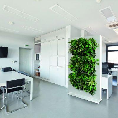 Groene wand kantoor