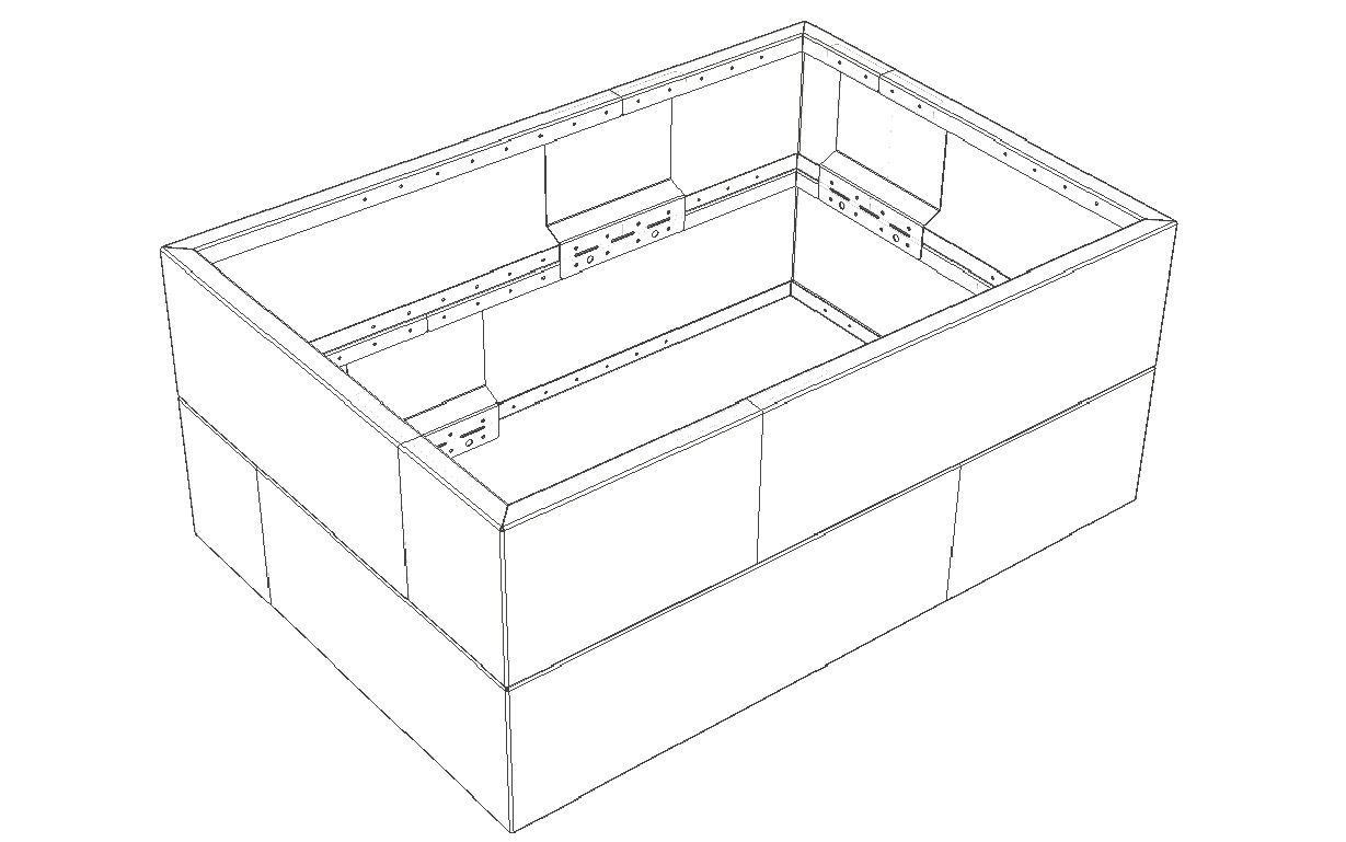 Straightcurve Box - Modulaire bakken tekening